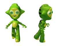 3D Toy Alien Character Stock Photo