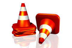 3d Traffic Cone Stock Photos