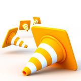 The 3d traffic cones Stock Image