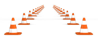 3d traffic cones Royalty Free Stock Photo