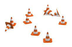 3d traffic cones Royalty Free Stock Images