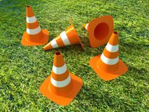 3D Traffic Cones Stock Image