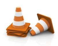 3d traffic cones - stacked Stock Image