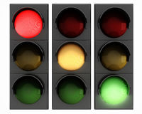 3d traffic lights Stock Photo