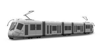3d tram Stock Afbeelding