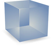 3d Translucent cubes Stock Photo