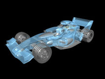 3D transparent race car Stock Photography