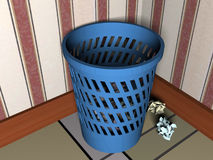 3d trash can Royalty Free Stock Photo