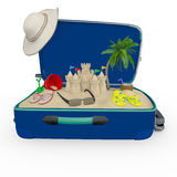 3D travel bag Stock Photography