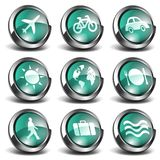 3D Travel Icons Royalty Free Stock Photo