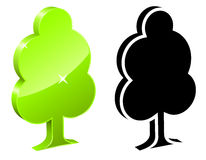3D tree icon Stock Images