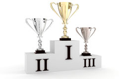 3d trophies Royalty Free Stock Images
