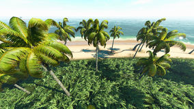 3d Tropical. Beach. See my other works in portfolio Stock Photography