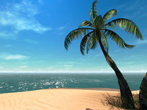 3d Tropical. Beach. See my other works in portfolio royalty free illustration