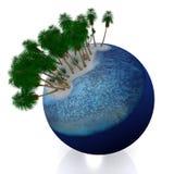 3d tropische planeet Stock Afbeeldingen
