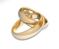 3D trouwringen Stock Fotografie