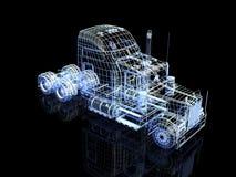 3d truck royalty free illustration