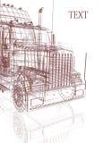 3d  truck. 3d model truck on the white background Stock Image