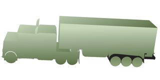 3D truck, toy silhouettes Royalty Free Stock Photos