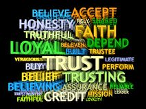 3d TRUST's word-cloud Royalty Free Stock Images