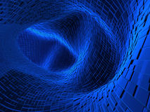 3d tunnel of blue color. Abstract 3d tunnel of blue color royalty free illustration