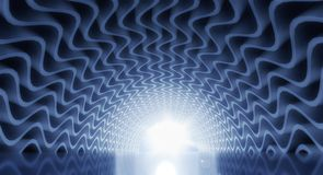 3d tunnel light. Abstract architecture stock illustration