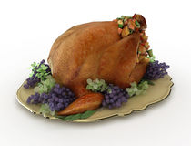 3d turkey on the plate Royalty Free Stock Images