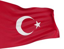 3D Turkish flag Royalty Free Stock Photography