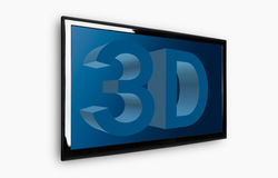 3D TV Photo libre de droits
