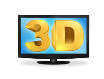 3D TV Fotografia Stock