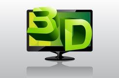 3D TV Fotografie Stock Libere da Diritti