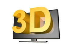 3d TV illustration de vecteur