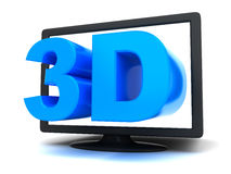 3d tv concept Royalty Free Stock Photos