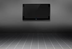3d TV in de ruimte Stock Foto's