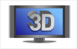 3d tv illustration design. Over a white background Stock Images