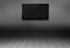 3d TV in the room stock photos