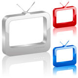 3D tv symbol Royalty Free Stock Images