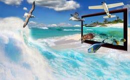 3D TV technology Royalty Free Stock Photos