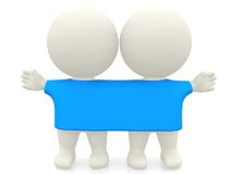 3D twins Royalty Free Stock Photography