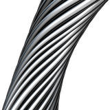 3d twisted cable in chrome silver Stock Images