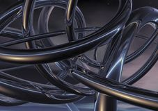 3D Twisted Metal Background Royalty Free Stock Image