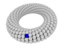 3D twisted torus Stock Photo