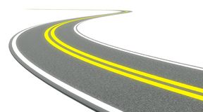 3d Twisty asphalt road Royalty Free Stock Images