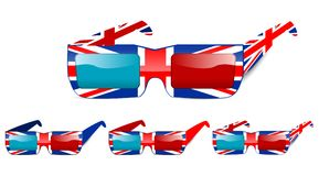 3d uk glasses Stock Photography