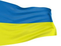 3D Ukrainian flag Stock Photography