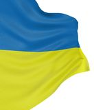 3D Ukrainian flag Stock Images