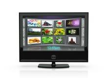 3d un'illustrazione: la TV Immagini Stock Libere da Diritti