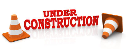 3d under construction Royalty Free Stock Photos