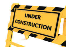 3D Under construction barricade Stock Photography