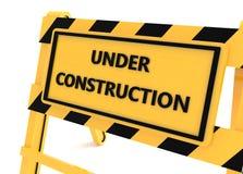 3D Under construction barricade Stock Photography